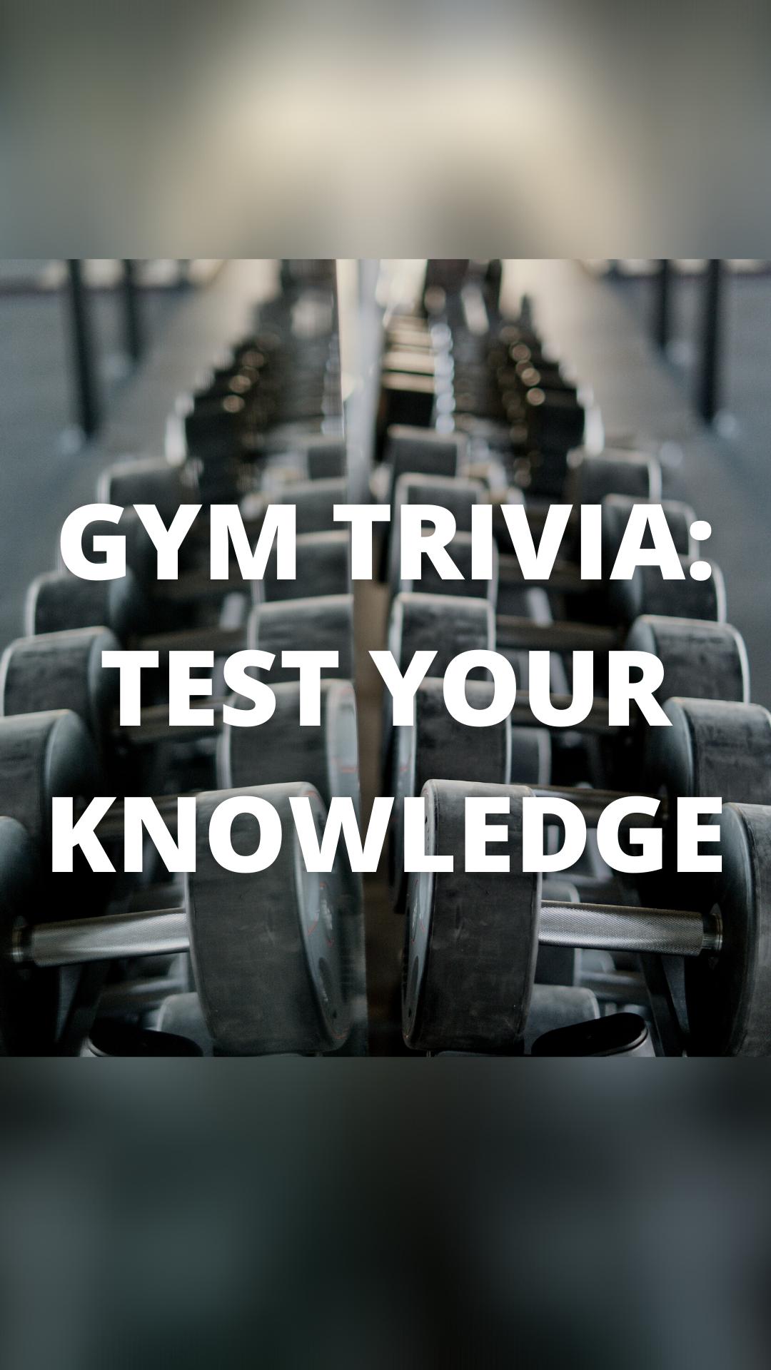 The Espresso Health Show: Gym Trivia